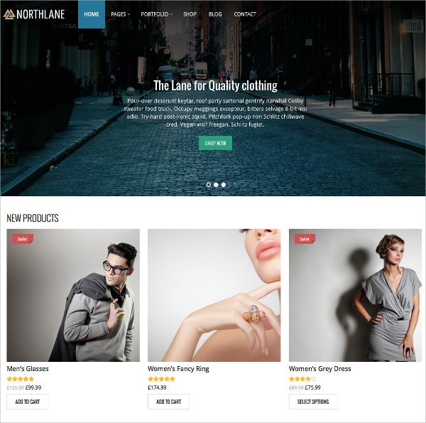 Product Portfolio eCommerce WordPress Theme $59