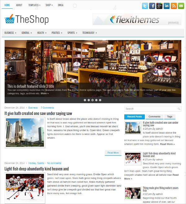 Free Fully Responsive WordPress Theme