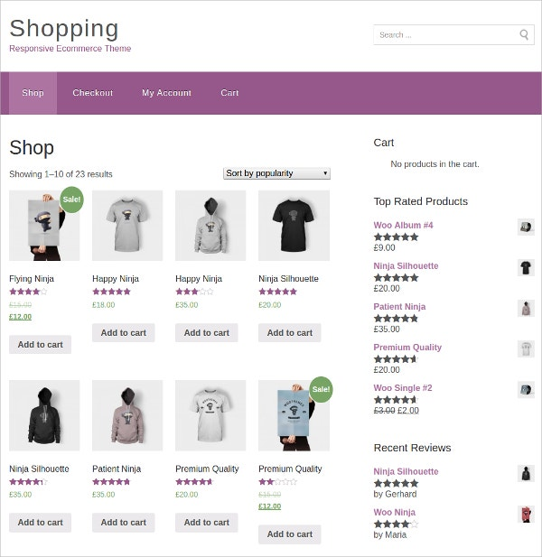 Popular eCommerce WordPress Theme