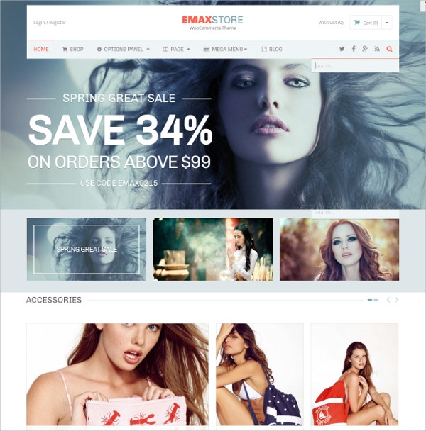 Beautiful eCommerce WordPress Theme