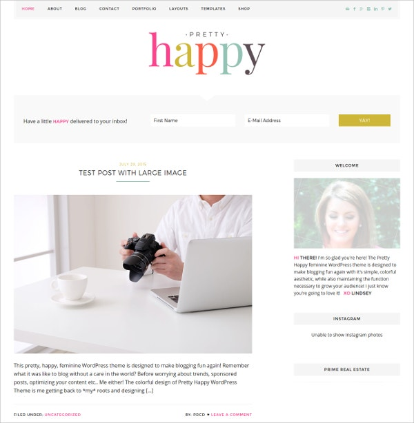 colorful feminine ecommerce wordpress theme