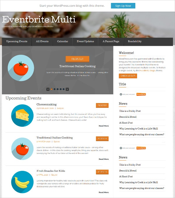 Perfect Event Planner WordPress Theme
