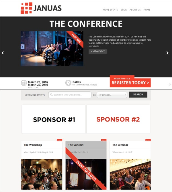 first event wordpress theme