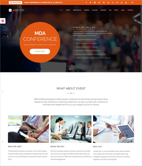 Conference Event WordPress Theme $54