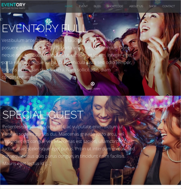 Events & Festival WordPress Theme $45