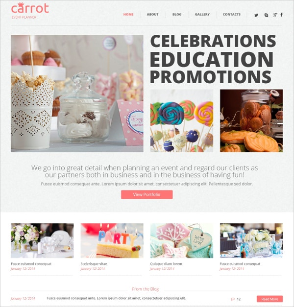 Educational Promotions Event WordPress Theme $75