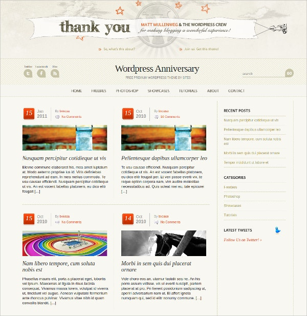 wordpress anniversary event theme