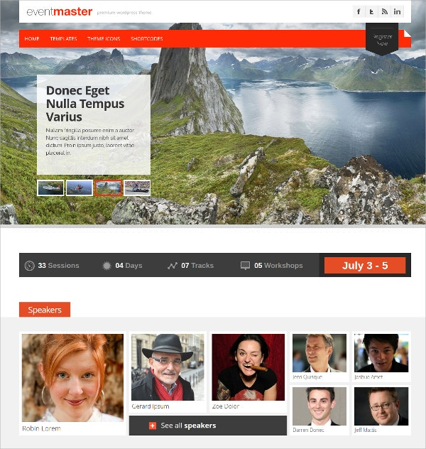 event master wordpress theme