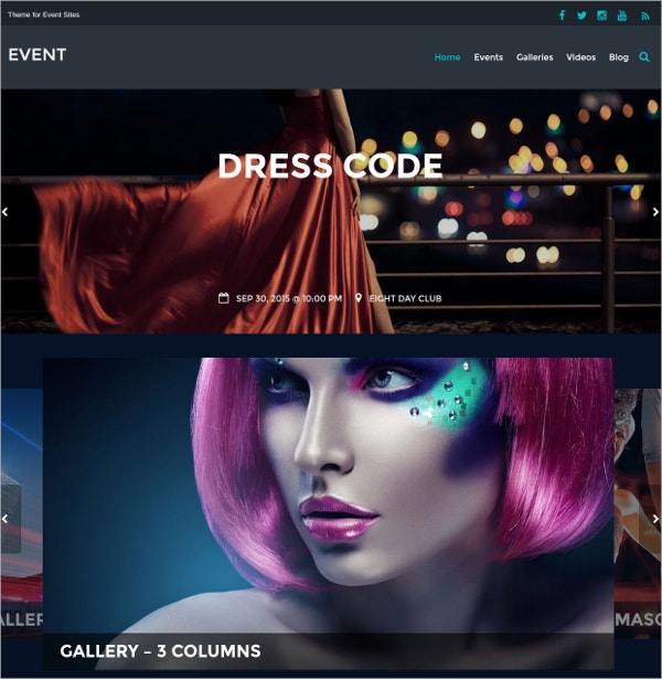Club Party Event WordPress Theme