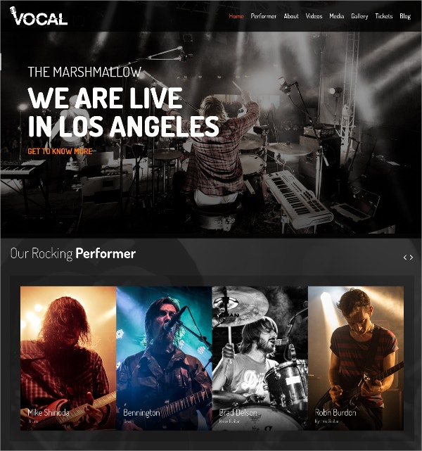 Music Event WordPress Theme $59