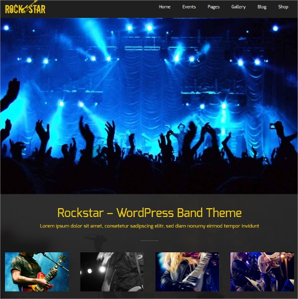 Rockstar Music Event WordPress Theme $69