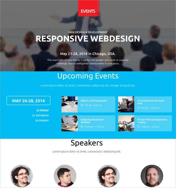event conference wordpress theme