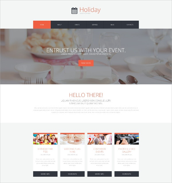 wedding, Birthday Event WordPress Theme $75