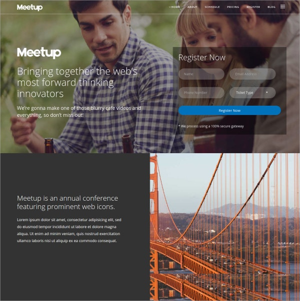 Conference & Event WordPress Theme $54