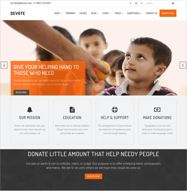 Chairty Event WordPress Theme $29
