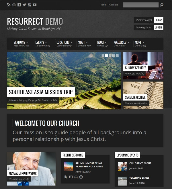 urban inspired event wordpress theme