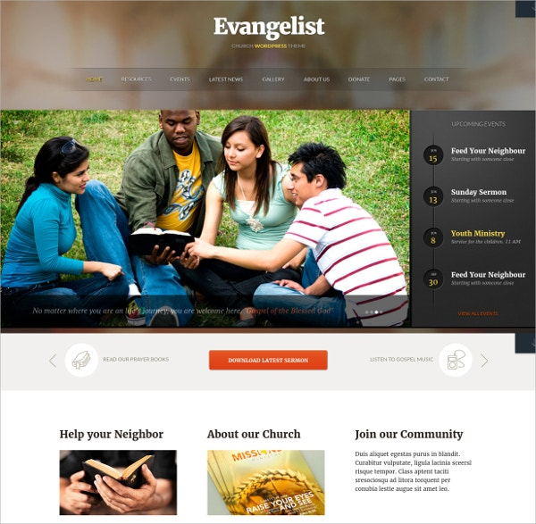Church Event WordPress Theme
