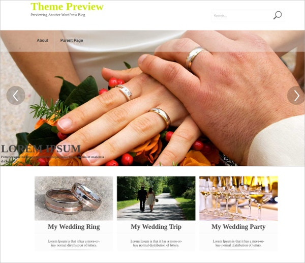 Wedding & Event WordPress Theme