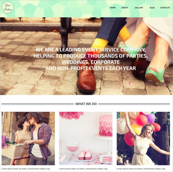 Wedding Event WordPress Theme $75