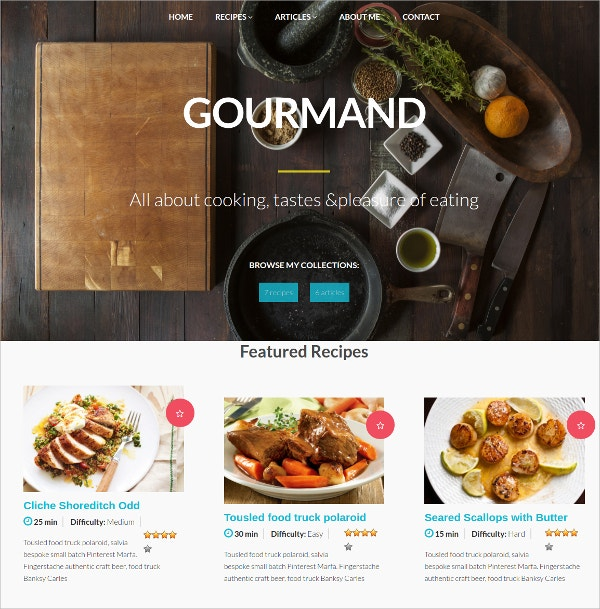 food event wordpress theme