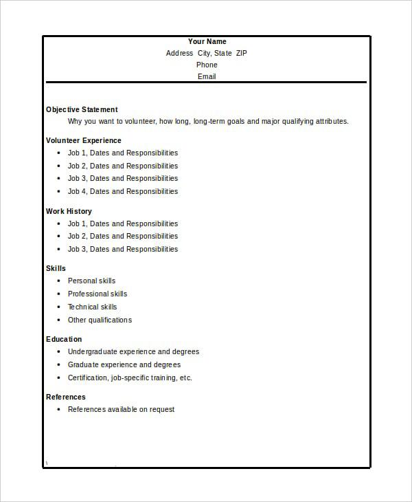 Volunteer work experience essay