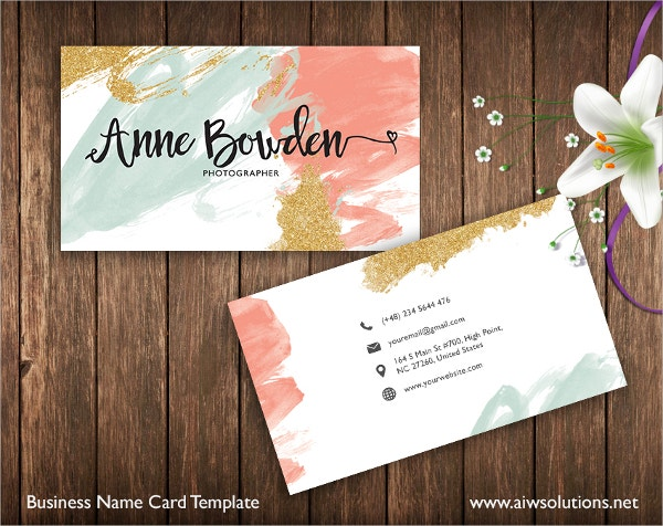 Elegant Name Card Template