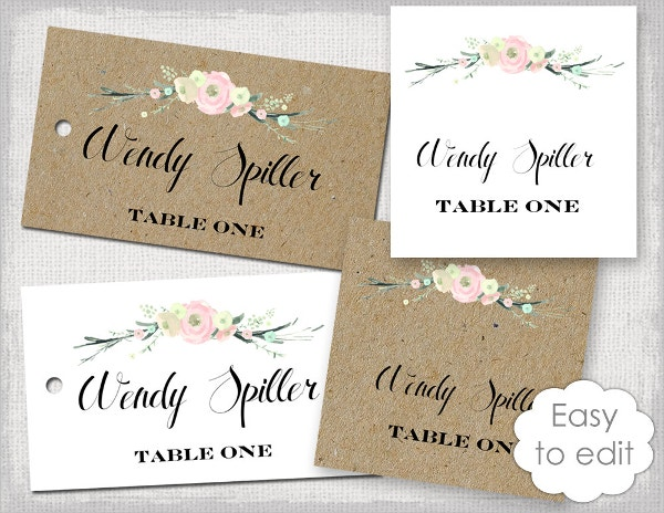 Rustic Name Card Template