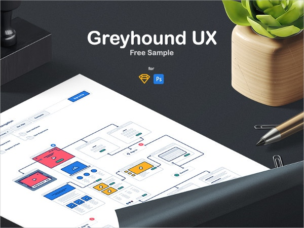 Greyhound UX Flowchart Free Sample