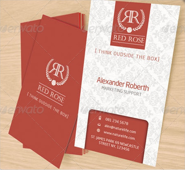 Red Rose Name Card