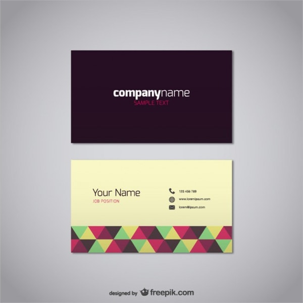 Polygonal Business Name Card
