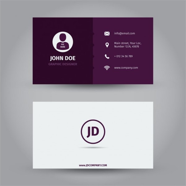 Purple Business Name Card