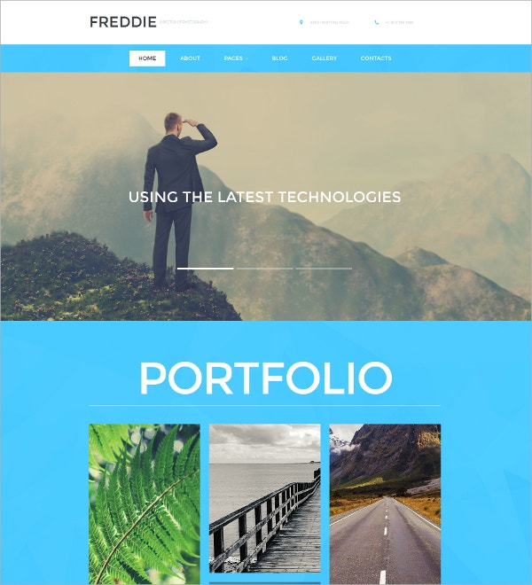 Photographer Portfolio HTML5 Website Template $199