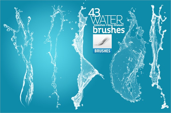 water splash brushes for photoshop