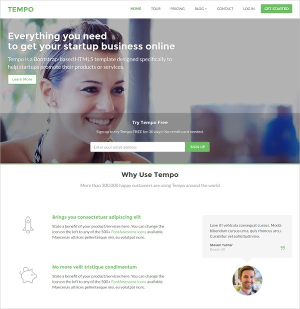 Responsive Bootstrap HTML5 Website Theme
