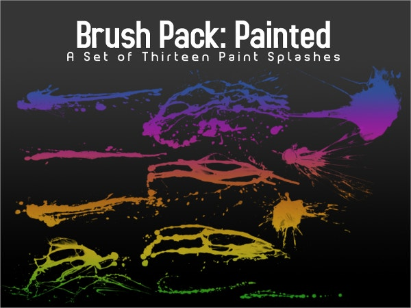 paint splash brushes
