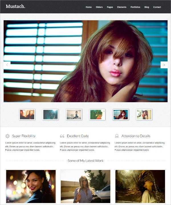Minimalist Responsive Html5 Website Theme $18