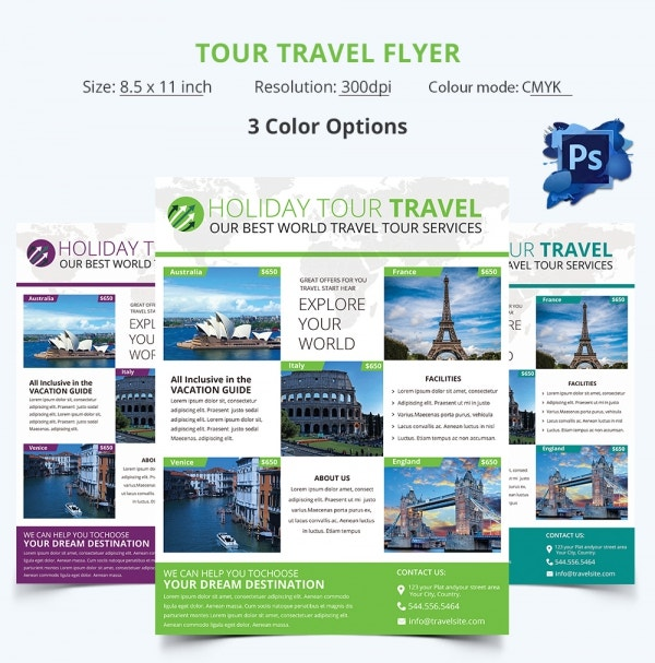 Freebie of The Day - Tour & Travel Flyer