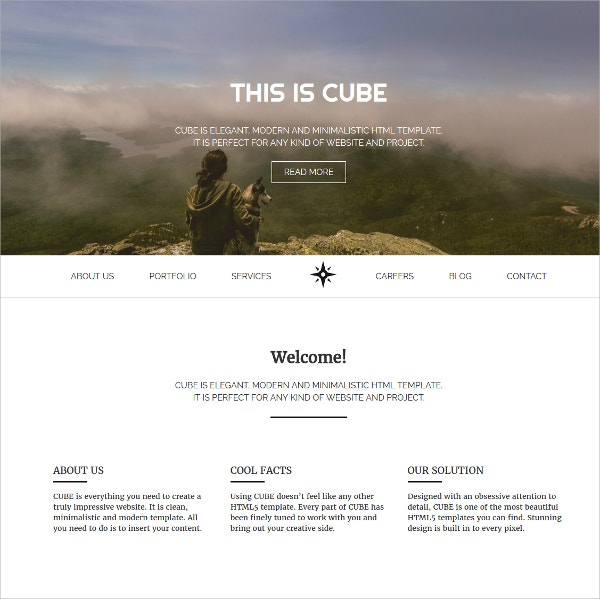 Design Responsive HTML5 Website Template $8