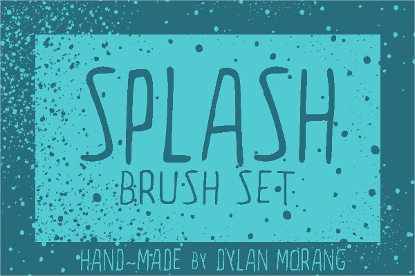 Hand Drawn Water Splash Brush Set
