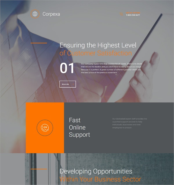 Business Responsive HTML5 Website Template $199