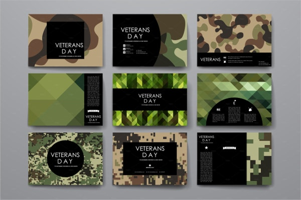 Veterans Day Business Card Template