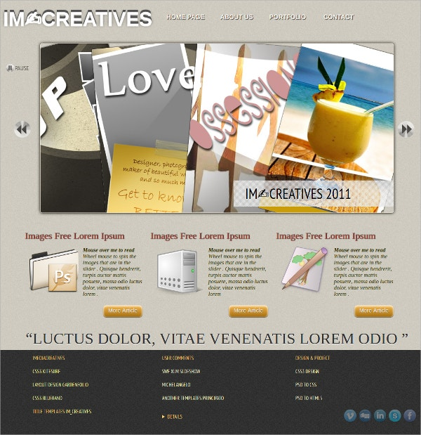 Creatives HTML5 Website Template