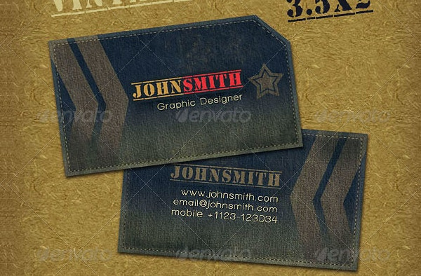 Military Style Business Card