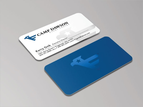 USA Military Business Card Template