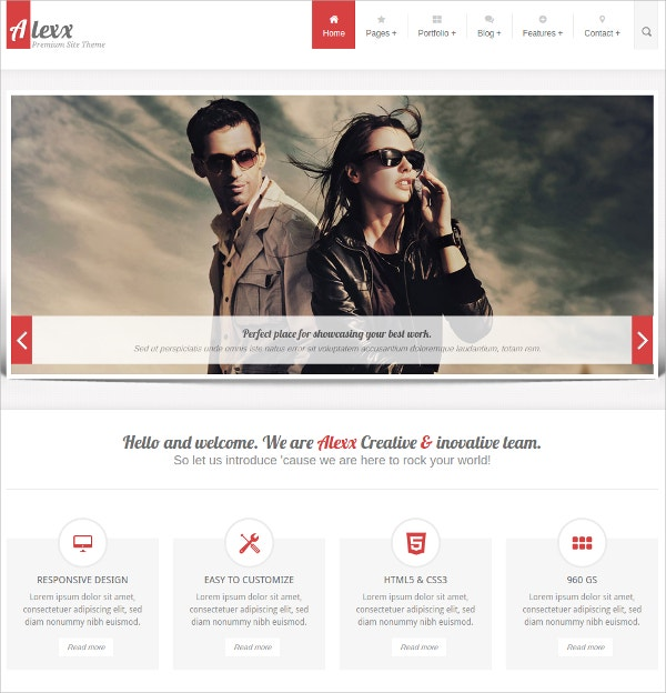 Multipurpose HTML5 Website Theme $18