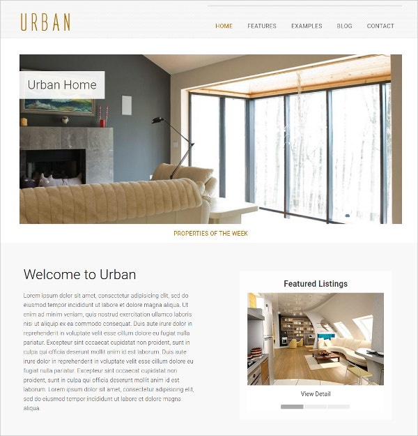 Real Estate HTML5 Website Template $18