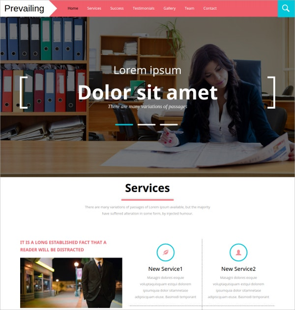 Corporate Bootstrap Responsive HTML5 Website Template