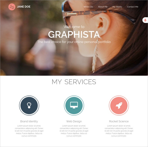One Page Creative HTML5 Website Template $10