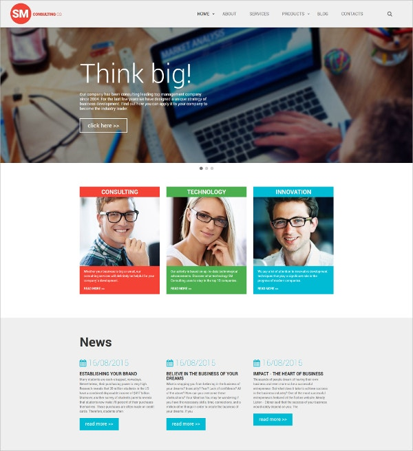 Consulting HTML5 Website Template $75