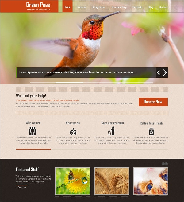 Charity Responsive HTML5 Website Theme $16